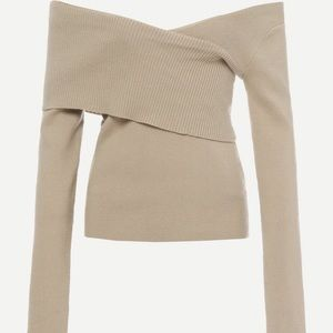 Cool and funky sand colored top.